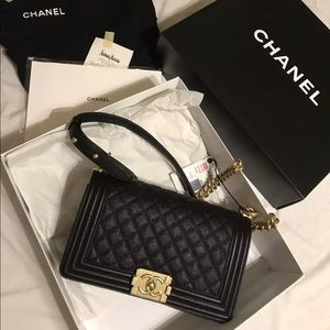 Rare Chanel Boy Bag Old Medium